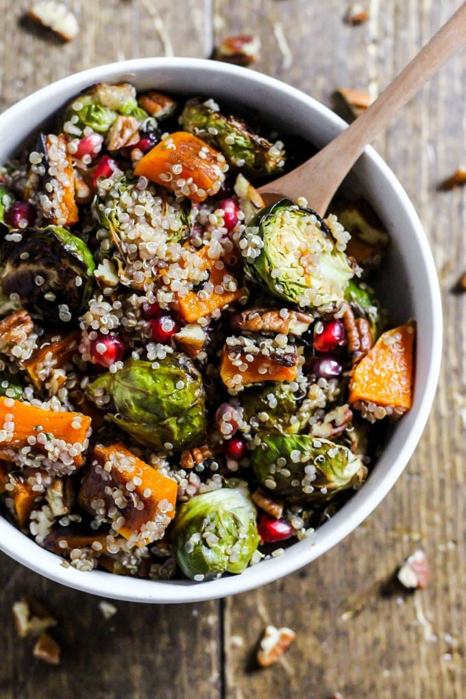 Fall Quinoa Recipes  Fall Brussels Sprouts Quinoa Salad