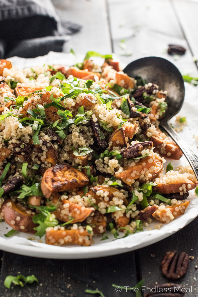 Fall Quinoa Salad  Autumn Quinoa Salad with Maple Dijon Dressing
