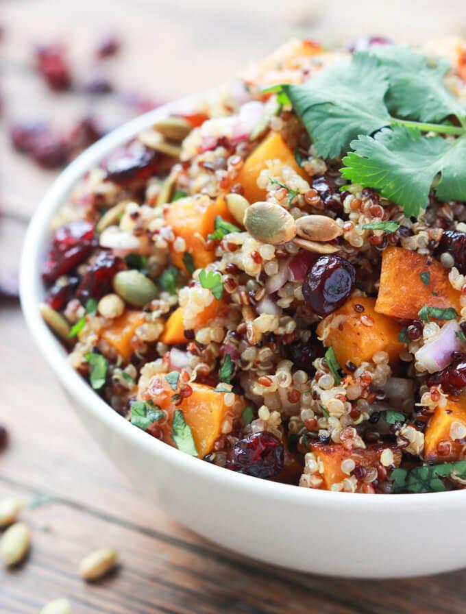 Fall Quinoa Salad  Butternut Squash and Cranberry Quinoa Salad
