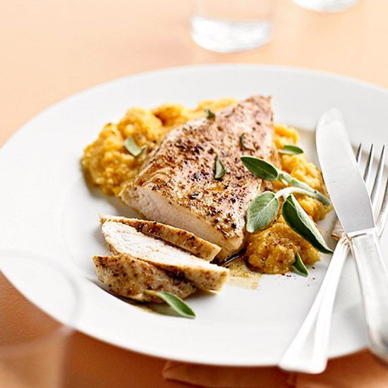 Fall Recipes Dinner  Cinnamon Roasted Chicken with Pumpkin Sage Grits
