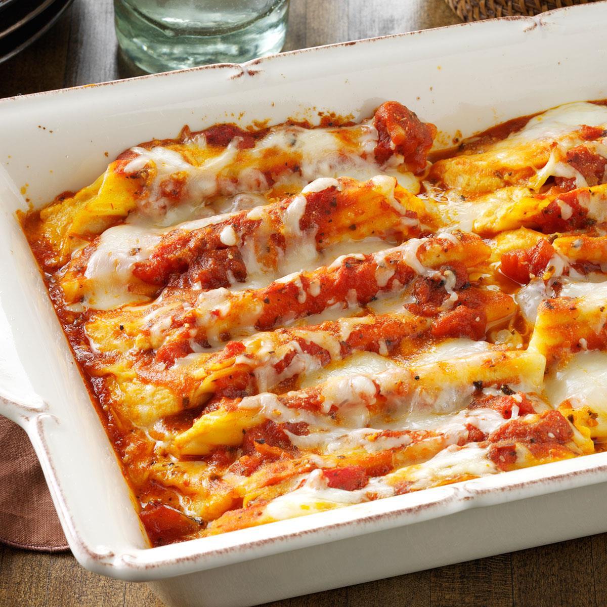 Fall Recipes For Dinner  Cheese & Pumpkin Filled Manicotti Recipe