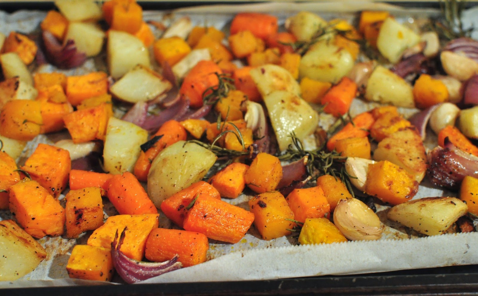 Fall Roasted Vegetables  My Tiny Oven Roasted Fall Ve ables