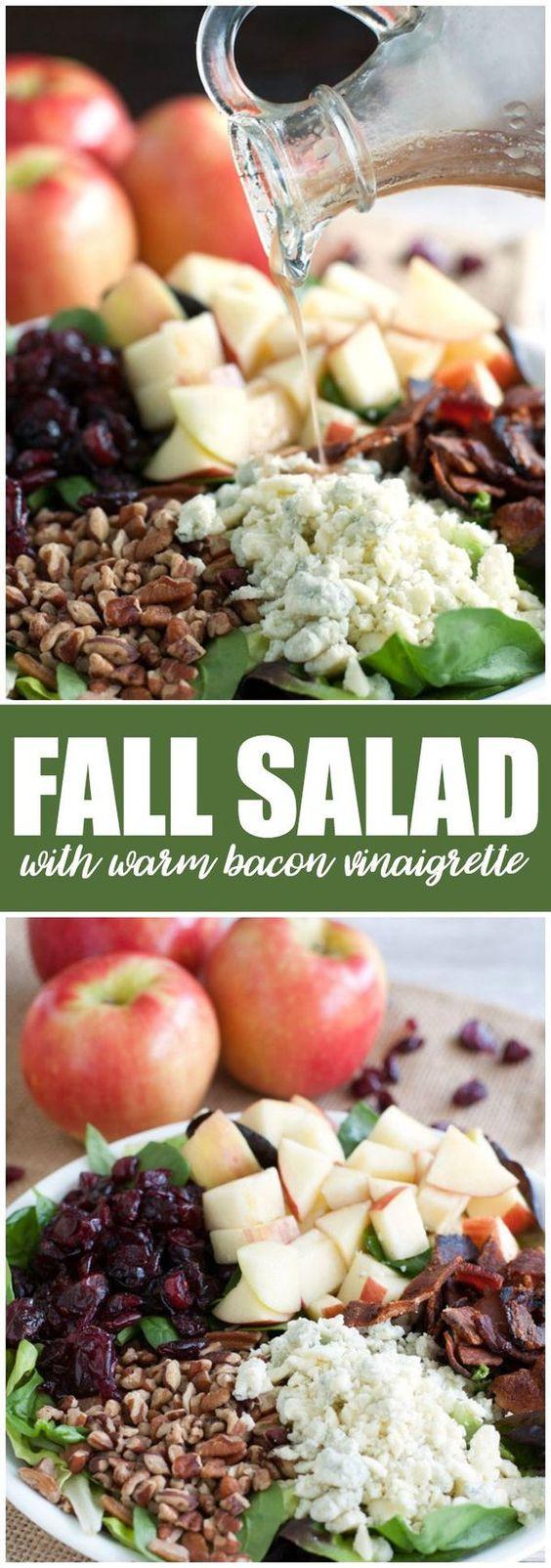 Fall Salad Dressings  Fall Salad with Warm Bacon Vinaigrette Recipe