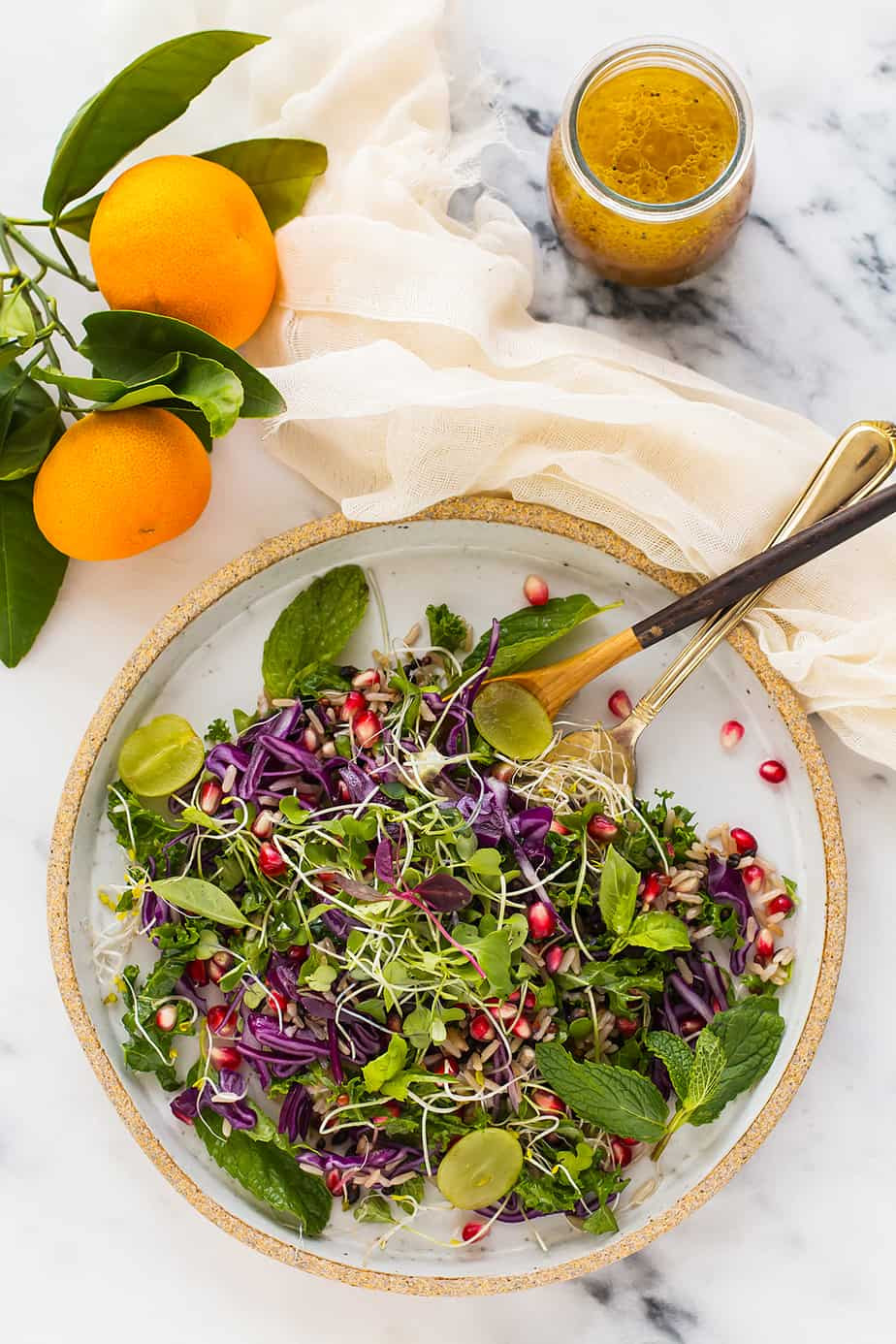 Fall Salad Dressings  Fall Salad with Orange Vinaigrette Dressing