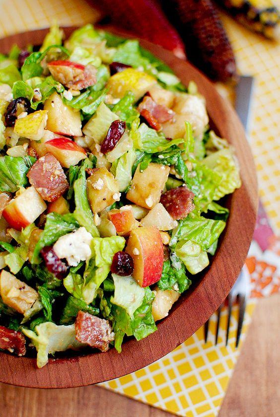 Fall Salad Dressings  Autumn Chopped Salad Recipe