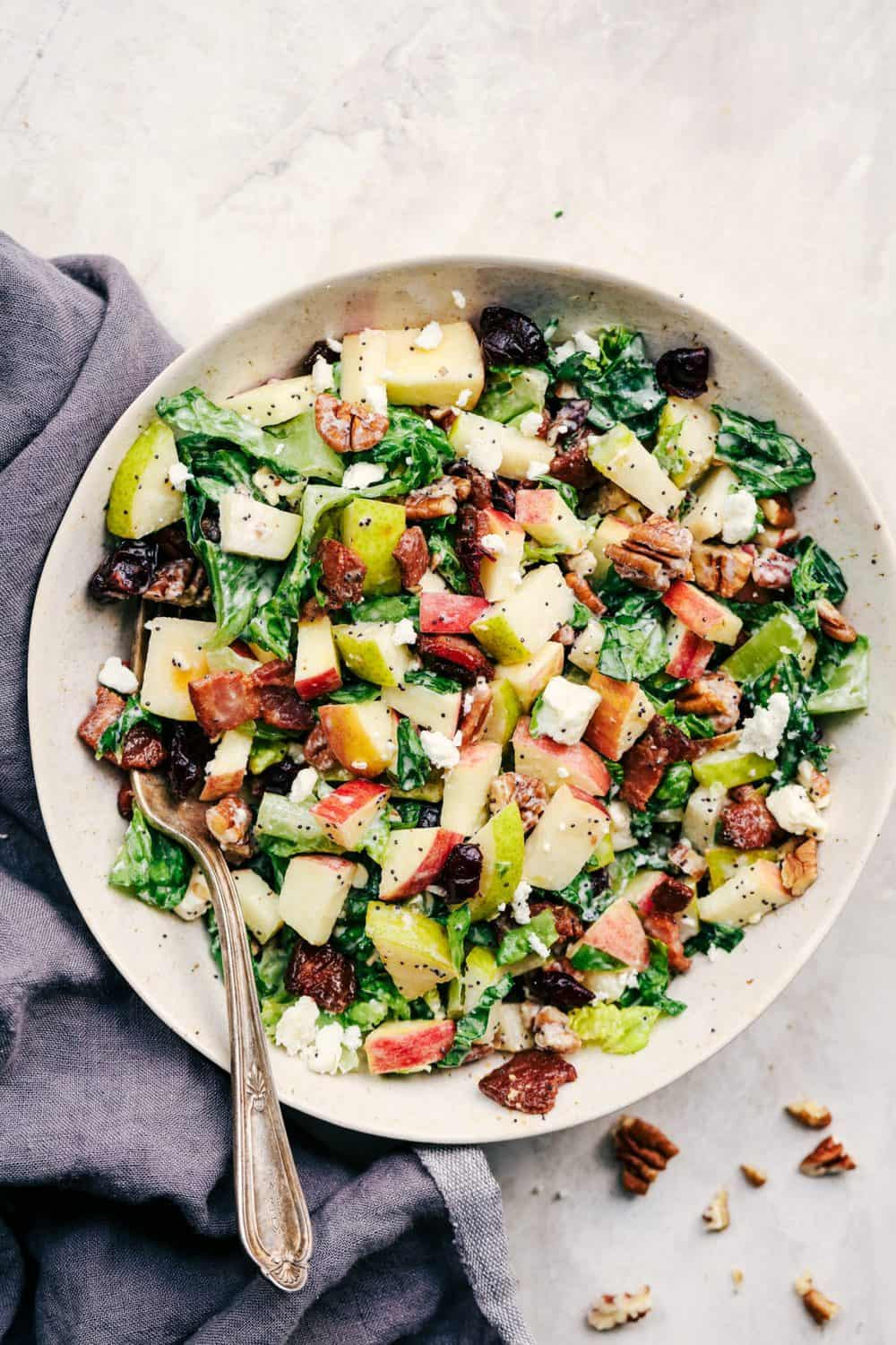 Fall Salad Dressings  Autumn Chopped Salad with Creamy Poppyseed Dressing