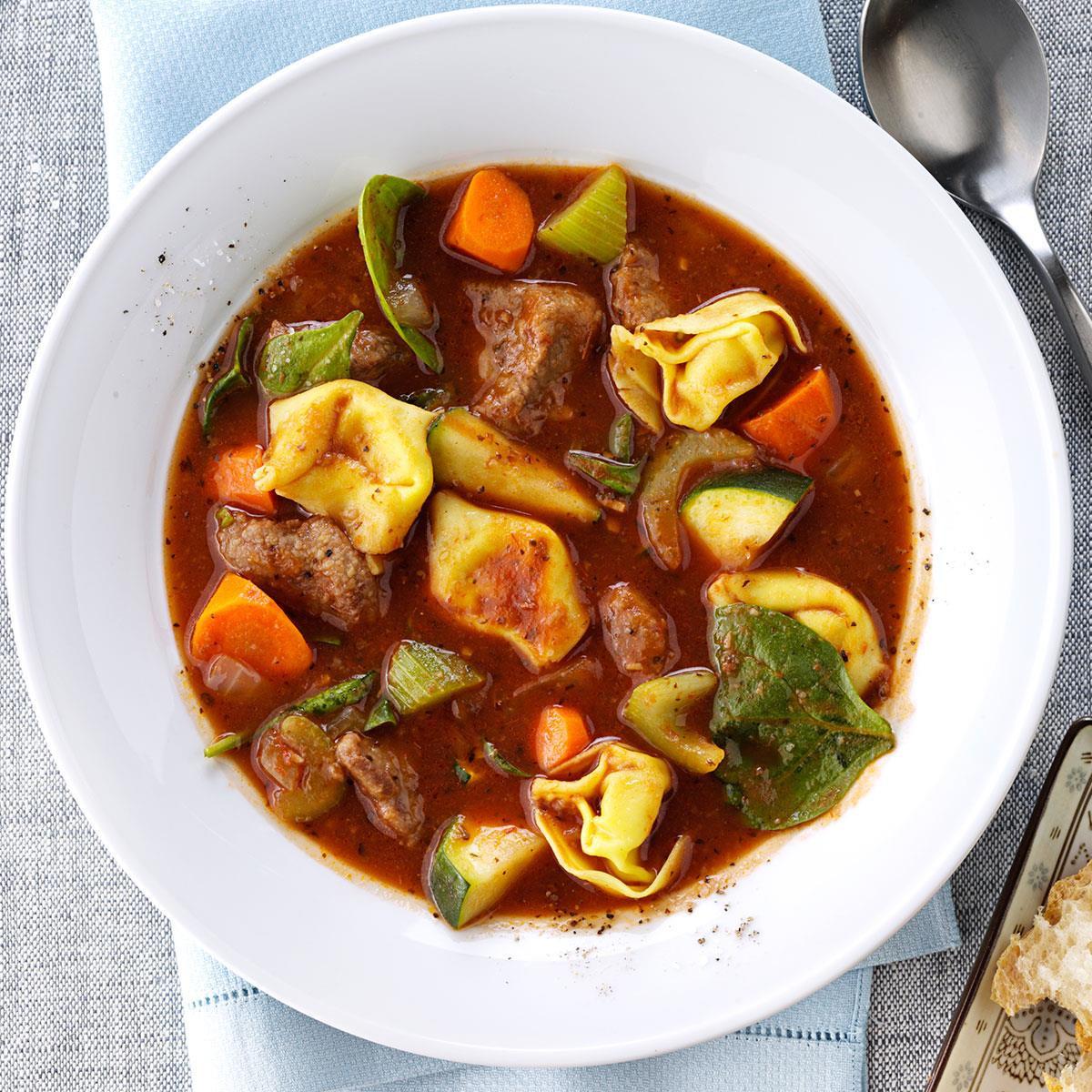 Fall Stew Recipes  Italian Beef Tortellini Stew Recipe