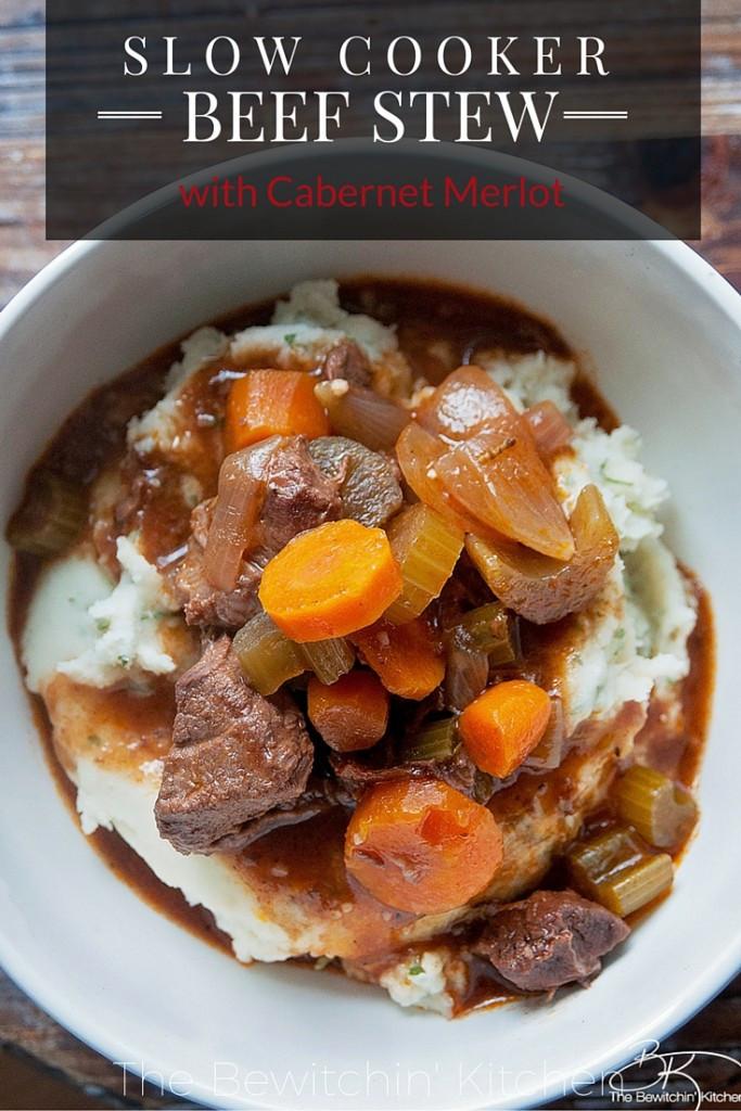 Fall Stew Recipes  Slow Cooker Beef Stew with Cabernet Merlot