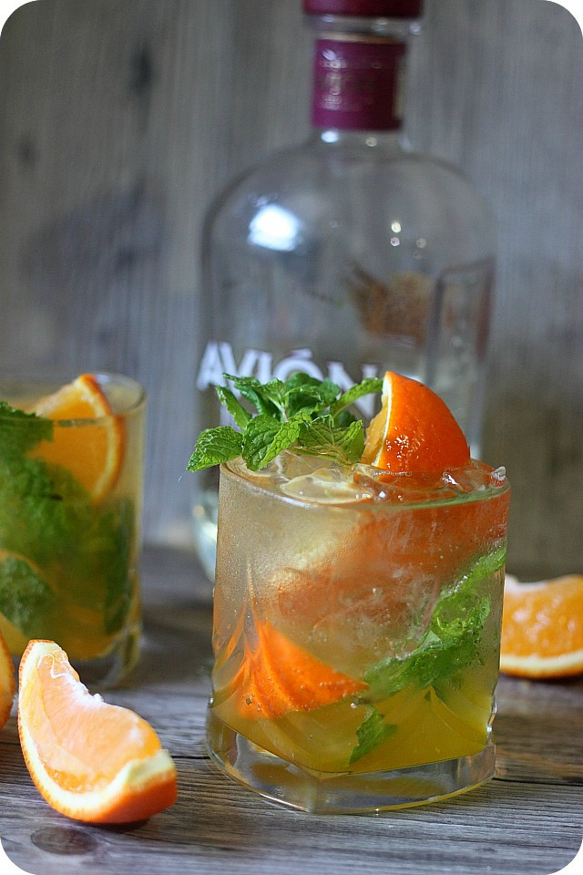 Fall Tequila Drinks  Orange Mint Tequila Cocktail