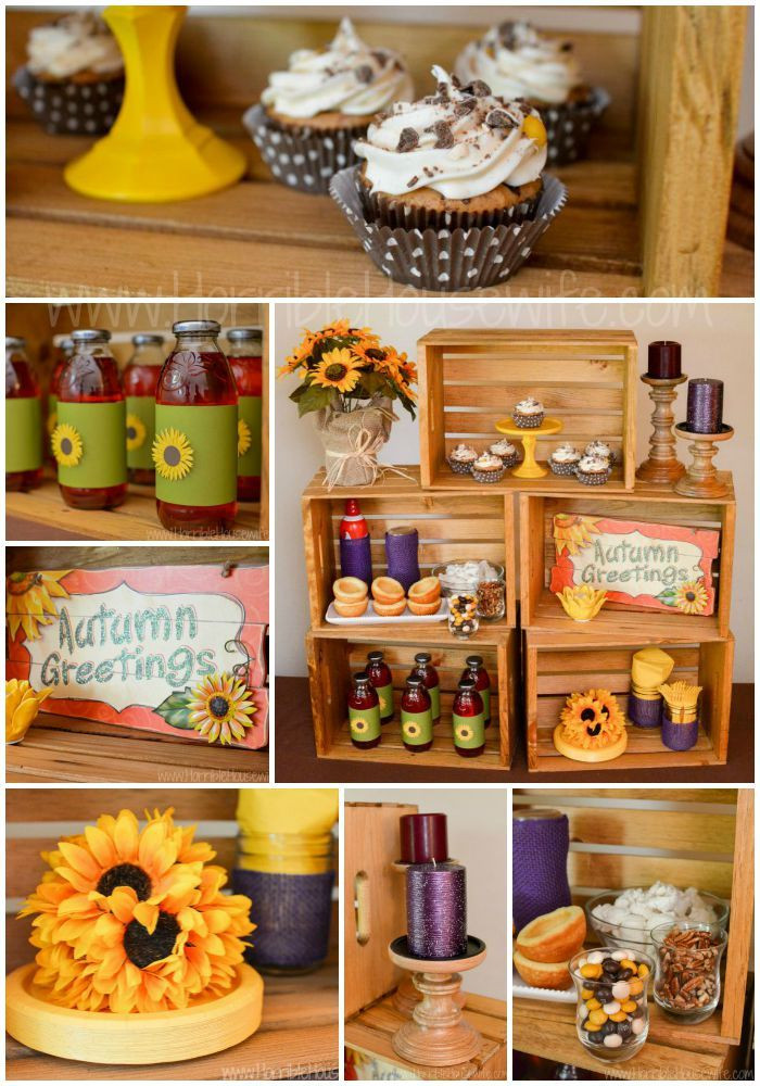 Fall Theme Desserts  Fall Themed Sunflower Party with Pecan Pie Cupcakes