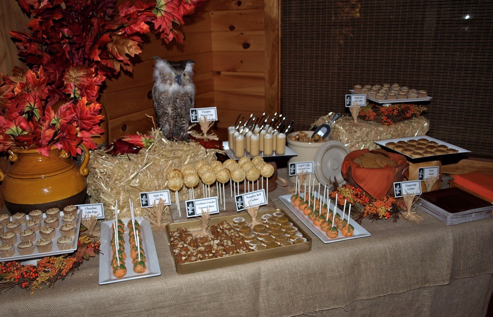 Fall Theme Desserts  a party style fall festival dessert table