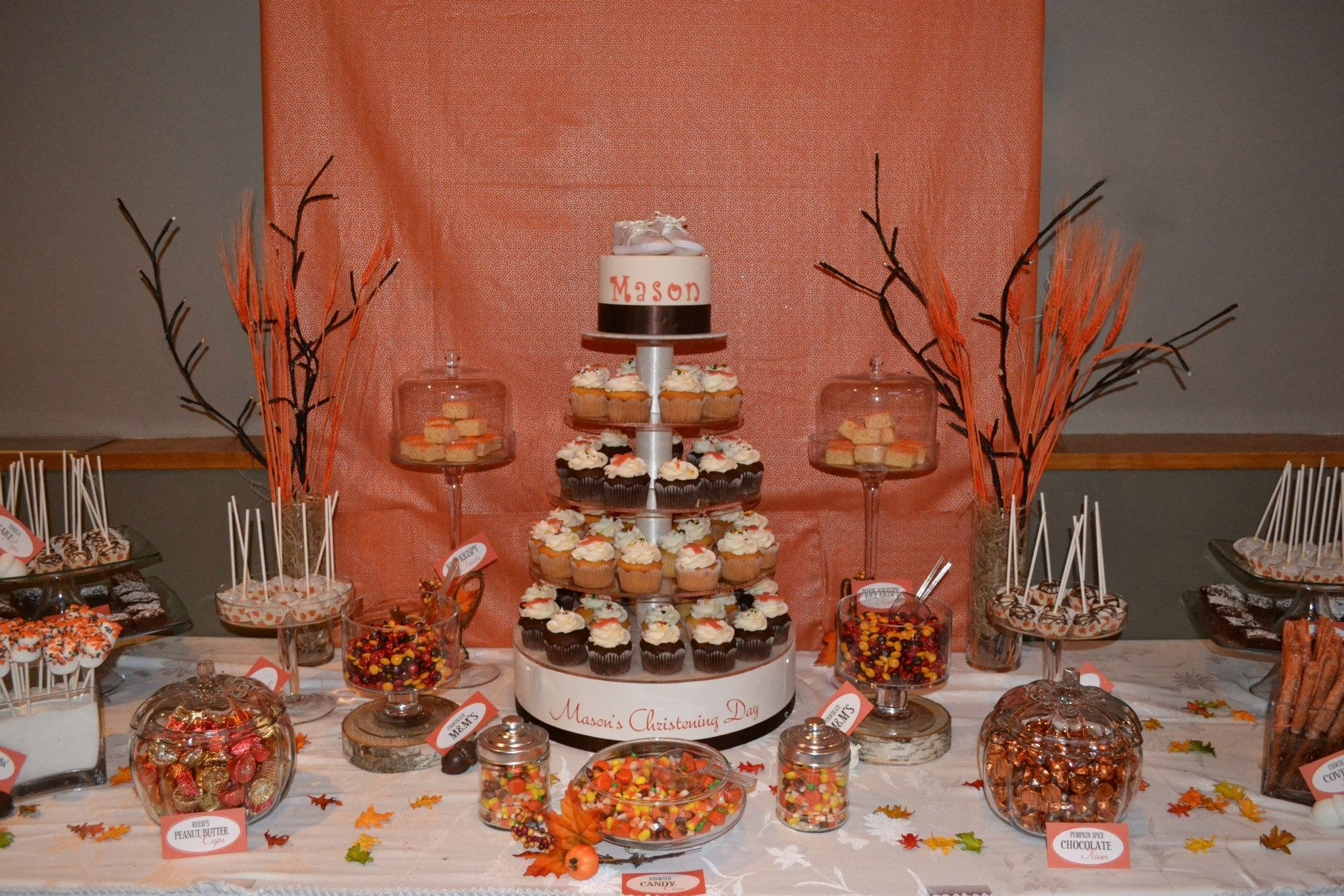 Fall Theme Desserts  Fall theme Dessert table party