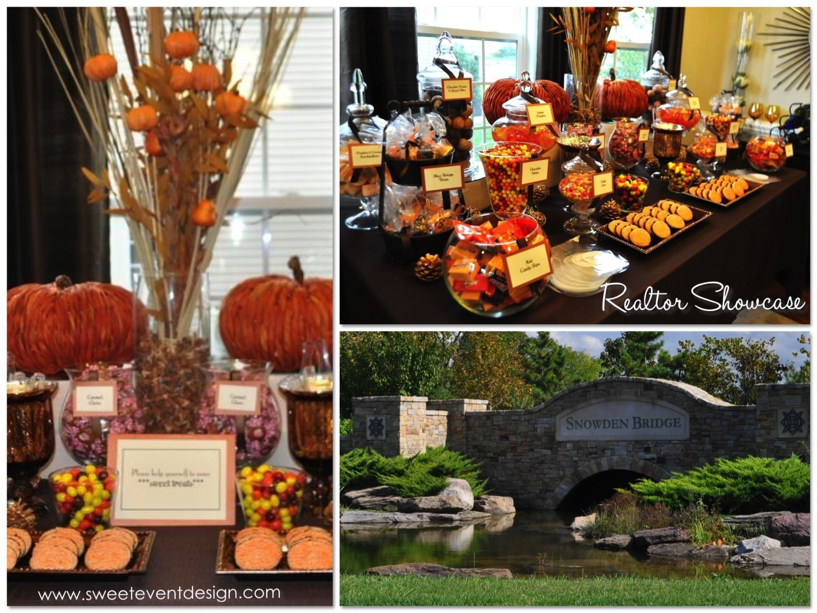 Fall Theme Desserts  fall themed candy tables