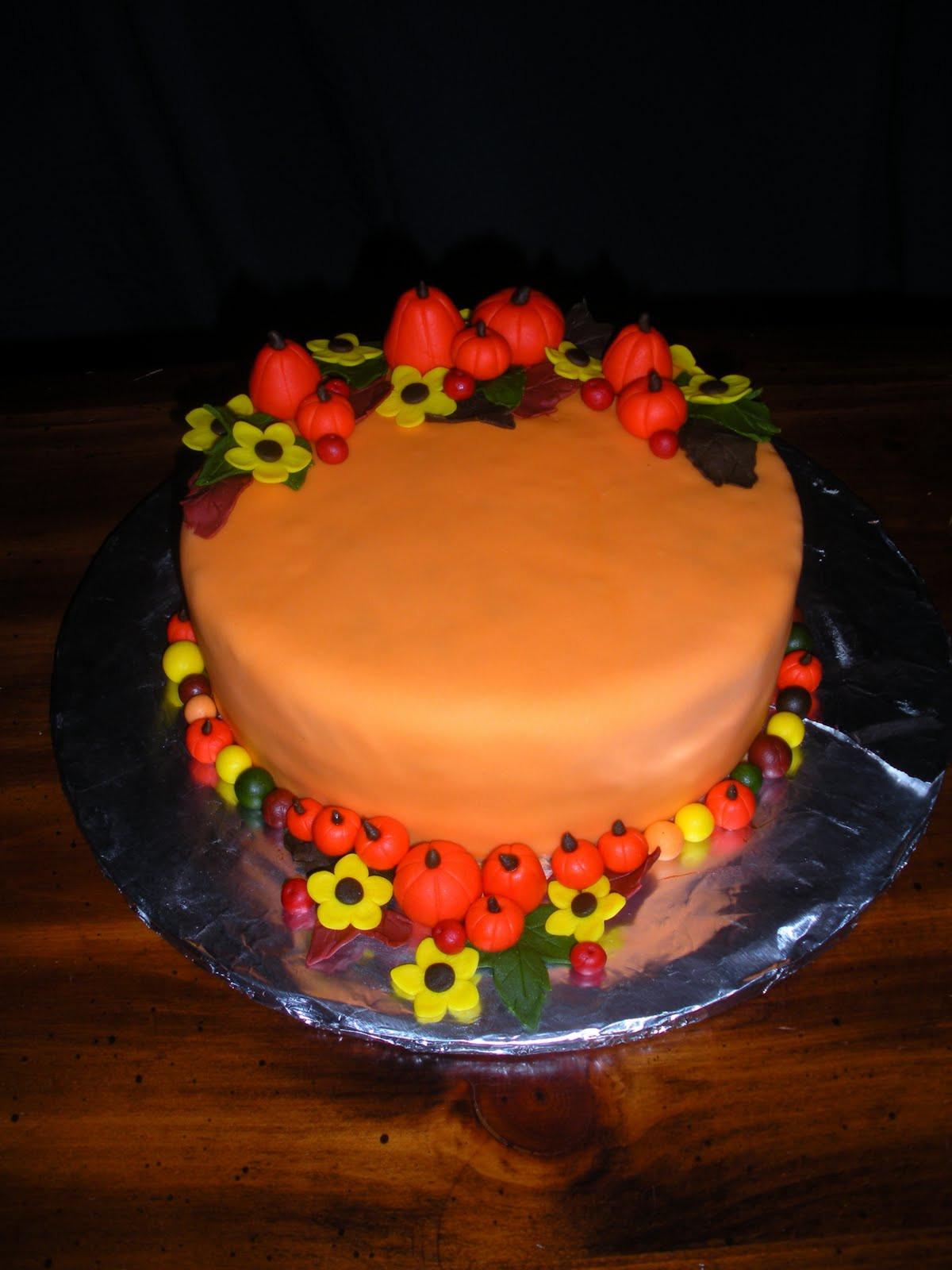 Fall Themed Birthday Cake  Beachy Cakes Fall Birthday Cake
