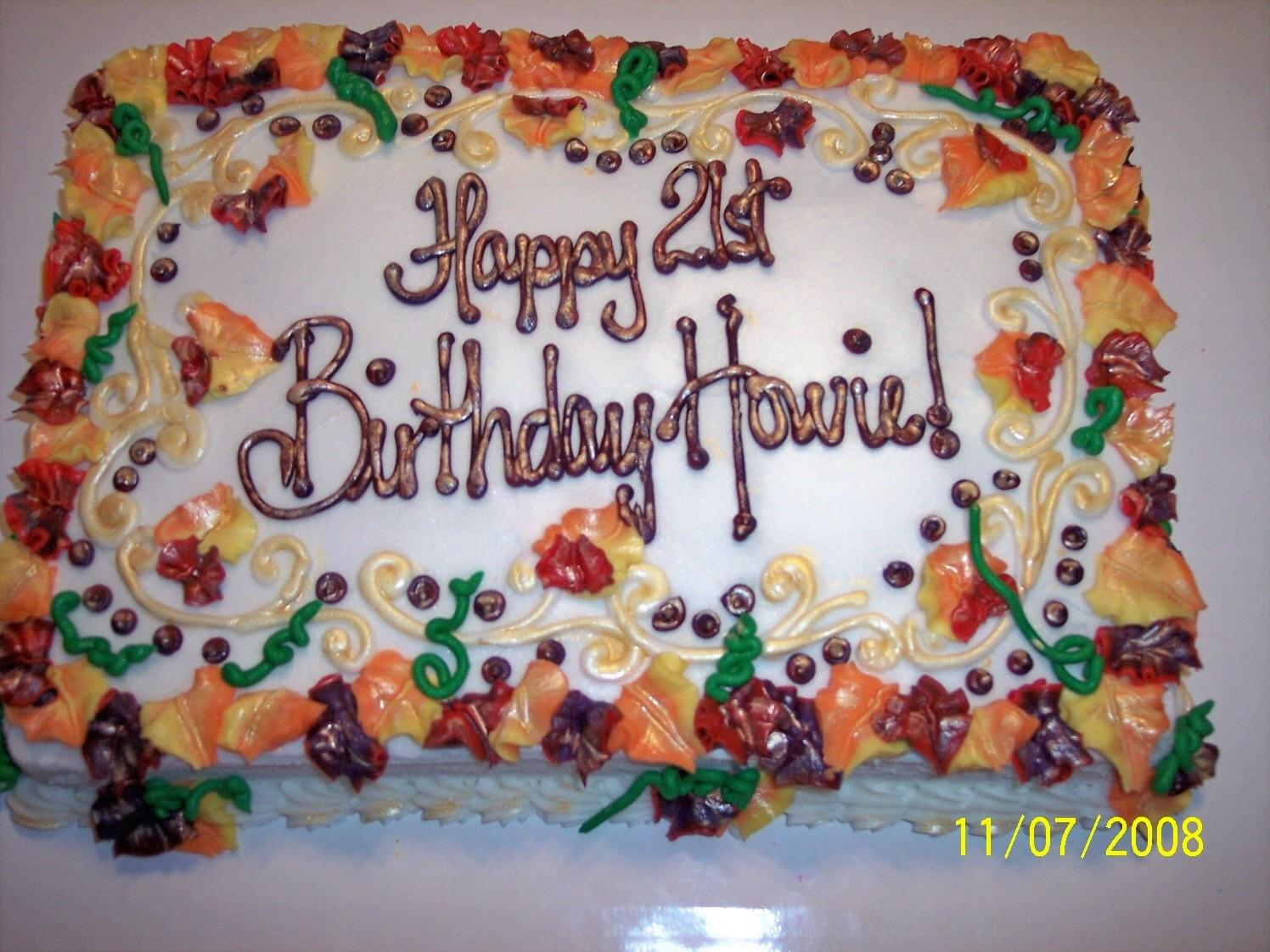 Fall Themed Birthday Cake  Fall themed birthday sheet cake