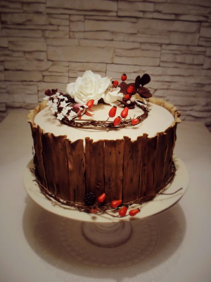 Fall Themed Birthday Cake  autumn themed birthday cake cake by timea CakesDecor