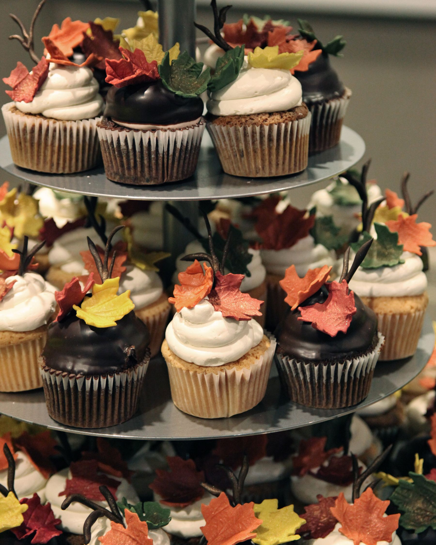 Fall Themed Cupcakes  Fall themed cupcake tower Electric Elm Studio I totally