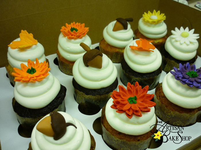 Fall Themed Cupcakes  Specialty Cupcakes Customized Cupcakes For Weddings