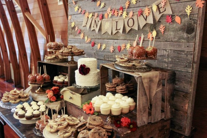 Fall Themed Desserts  Fall Dessert Table