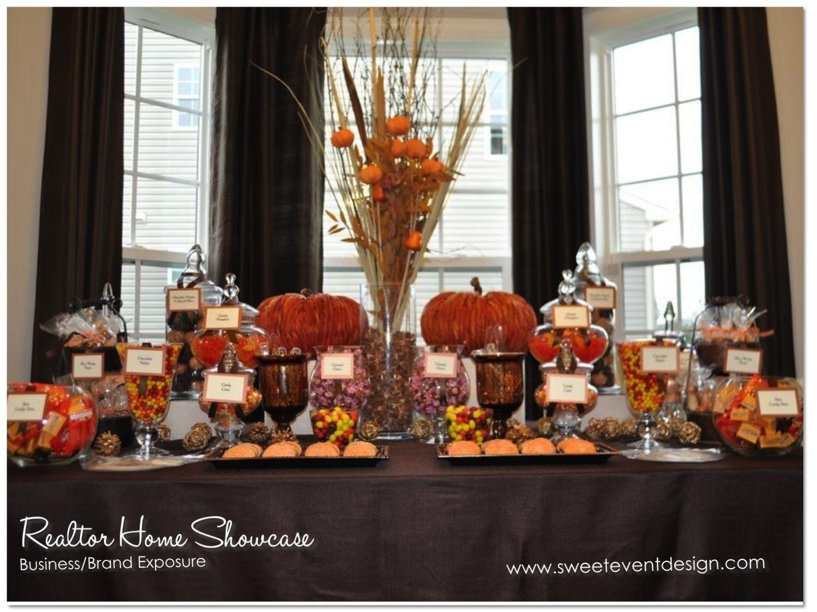 Fall Themed Desserts  candy buffet