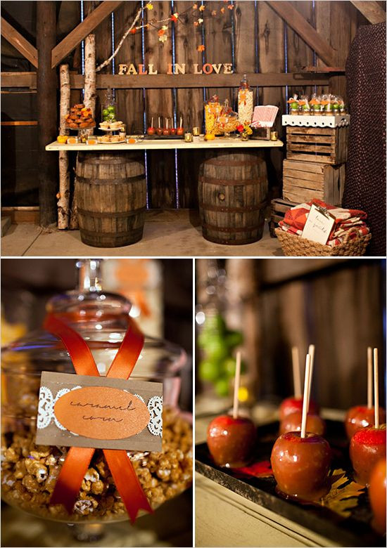 Fall Themed Desserts  Rustic Fall Wedding Ideas