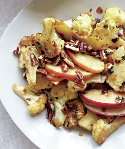 Fall Vegetable Side Dishes  Sautéed Cauliflower and Apples With Pecans