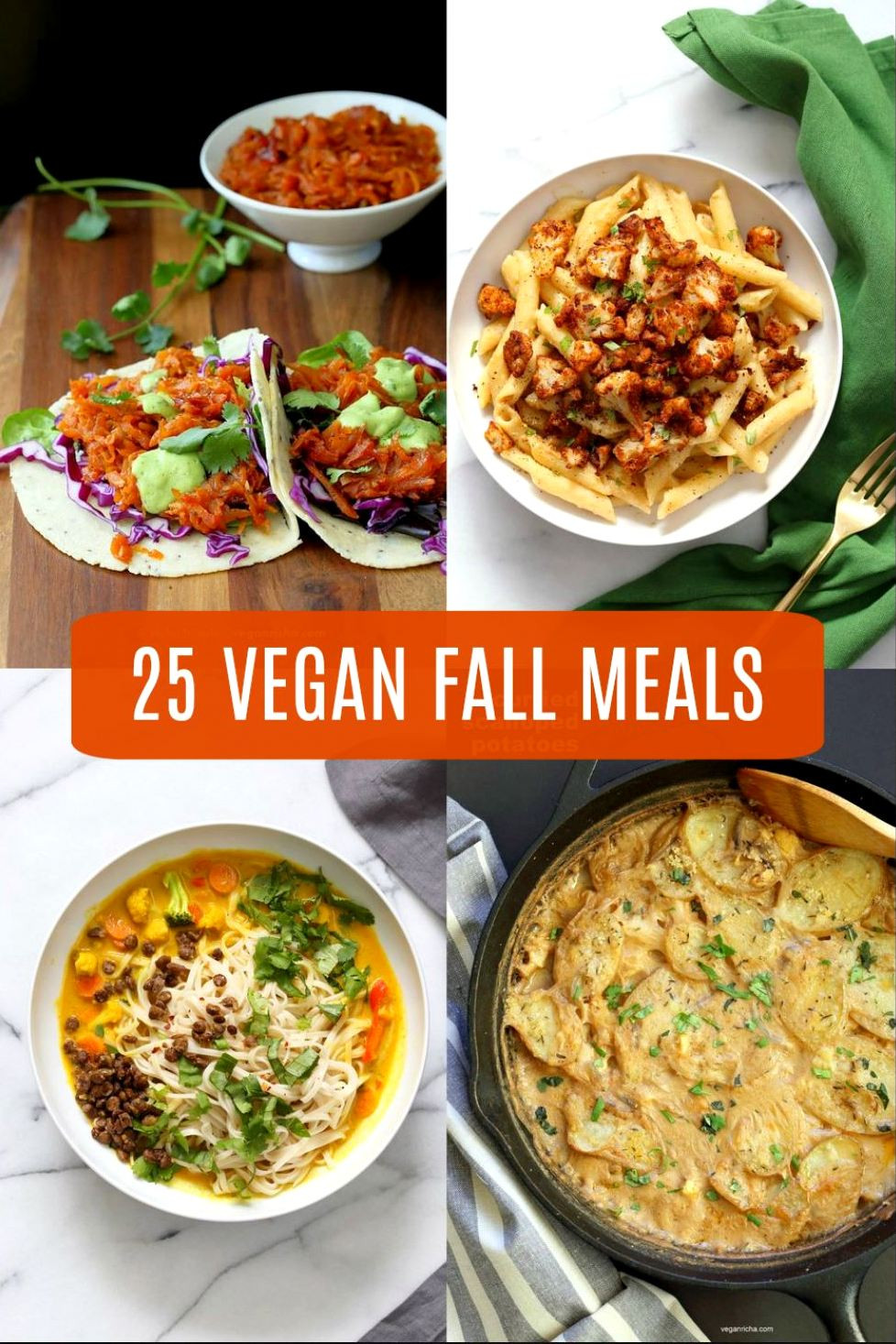Fall Vegetarian Recipes  25 Vegan Fall Meals for a chilly day 1 Pot Gluten free
