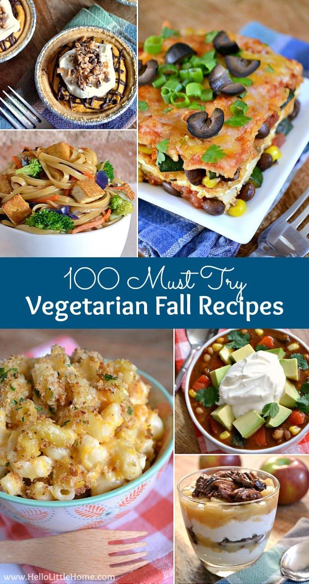 Fall Vegetarian Recipes  100 Must Try Ve arian Fall Recipes