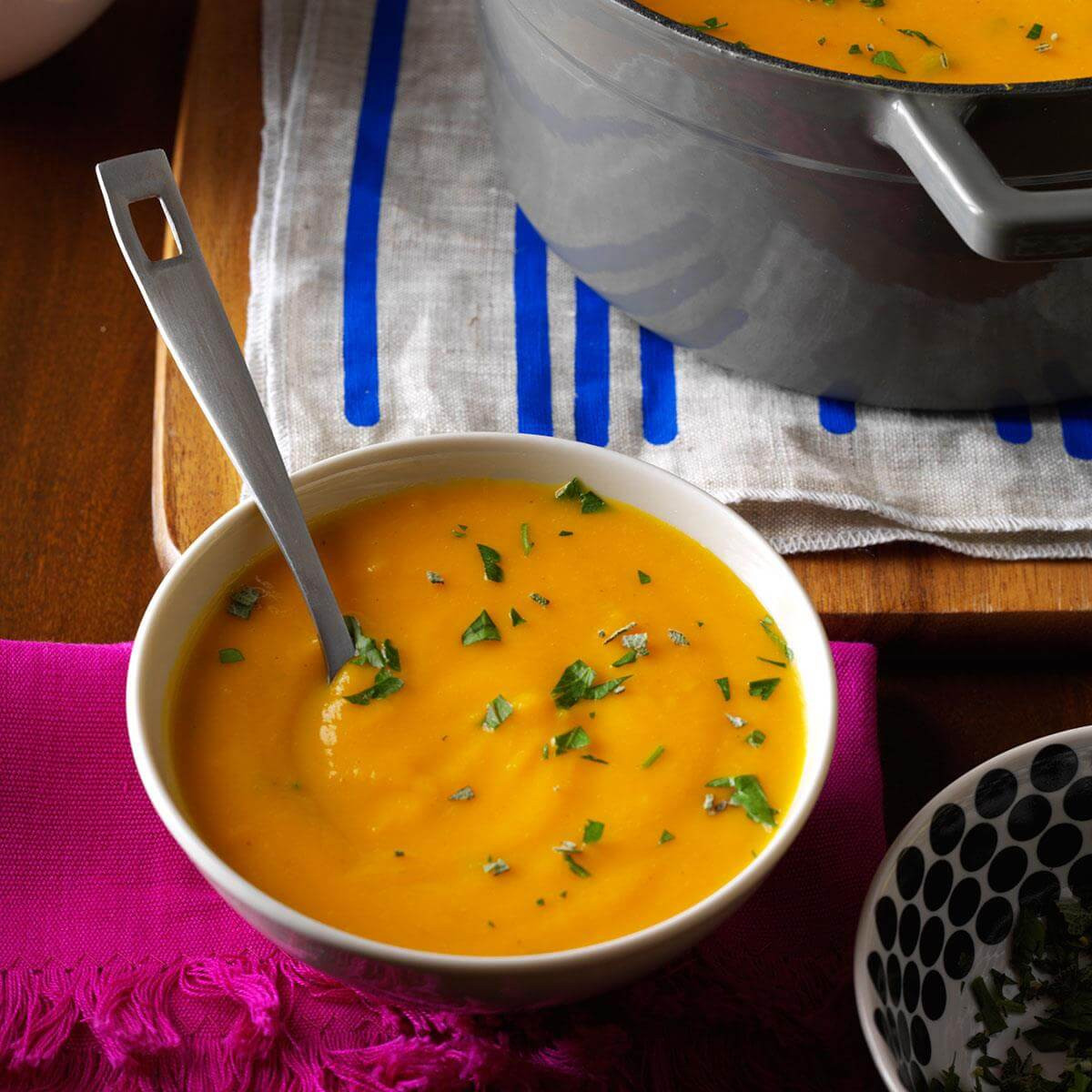 Fall Vegetarian Soup Recipes  Roasted Autumn Ve able Soup Recipe