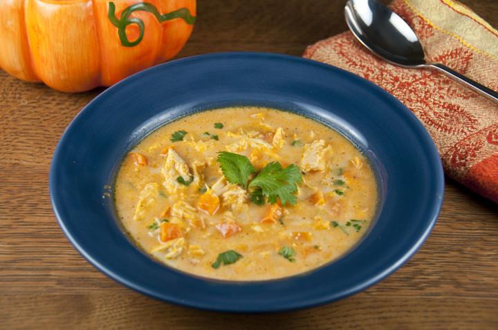 Fall Vegetarian Soup Recipes  Hearty Chicken Pumpkin Soup