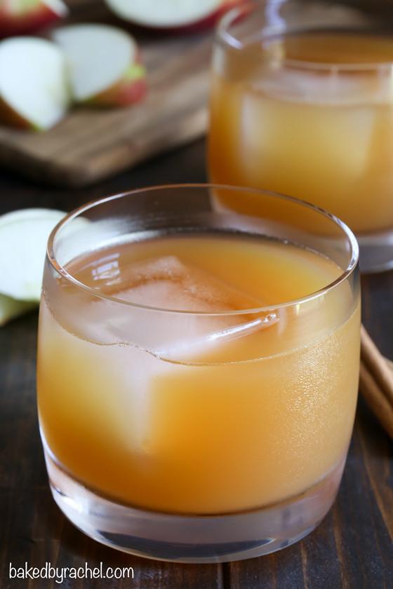 Fall Whiskey Drinks  Apple Cider Whiskey Smash