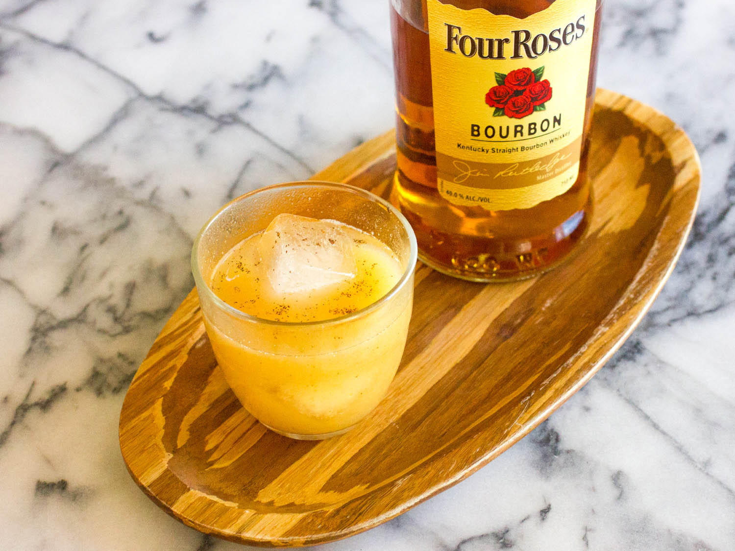 Fall Whiskey Drinks  Sparkling Bourbon Pear Cocktail Recipe