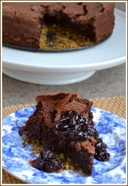 Fallen Chocolate Cake  more than burnt toast Fallen Chocolate Cake with Cherry