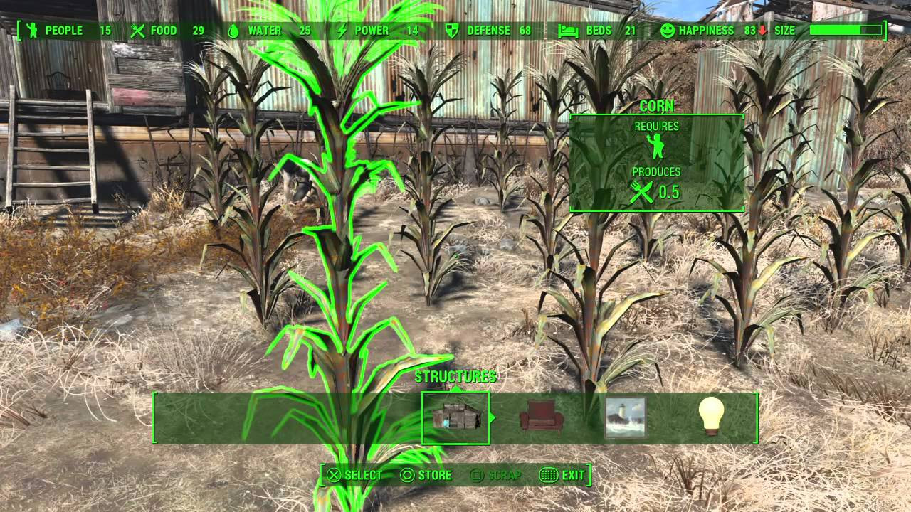 Fallout 4 Corn  Fallout 4 Food Production & Assigning Settlers