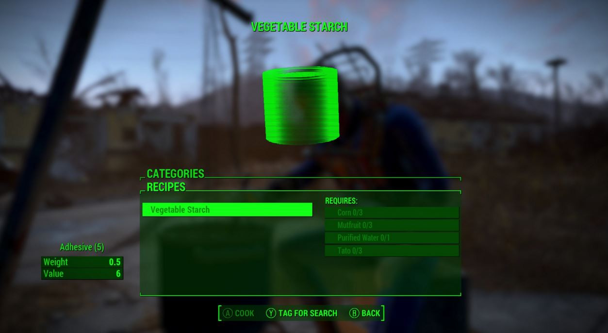 Fallout 4 Corn  Fallout 4 Guide A renewable way to create your own Adhesive