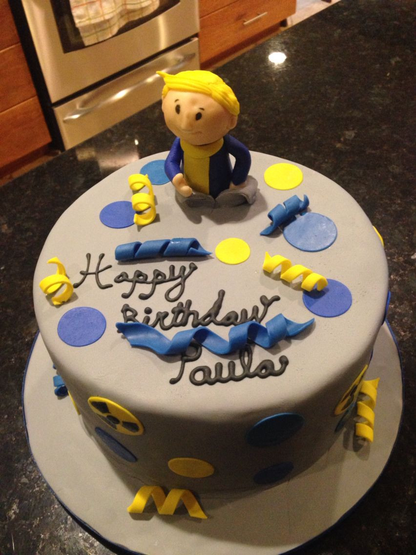Fallout Birthday Cake  Fallout 4 cake Things We like at Pia Spa