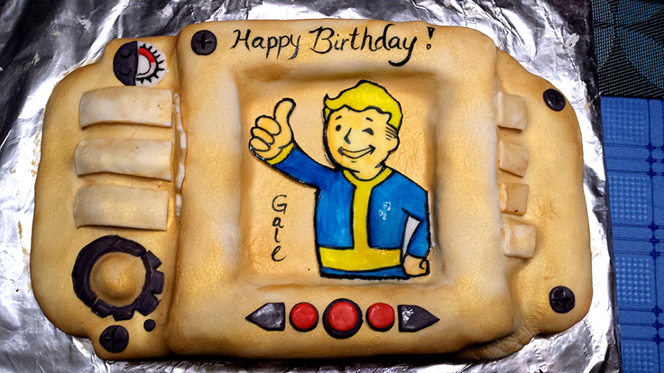 Fallout Birthday Cake  fallout cake Obsession thy name is Fallout