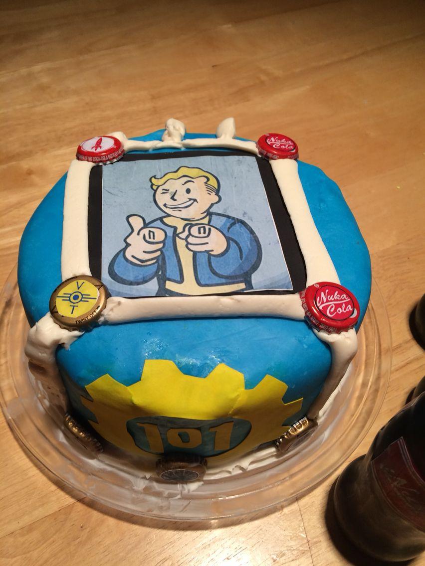 Fallout Birthday Cake  Fallout 3 cake Food ideas DIY