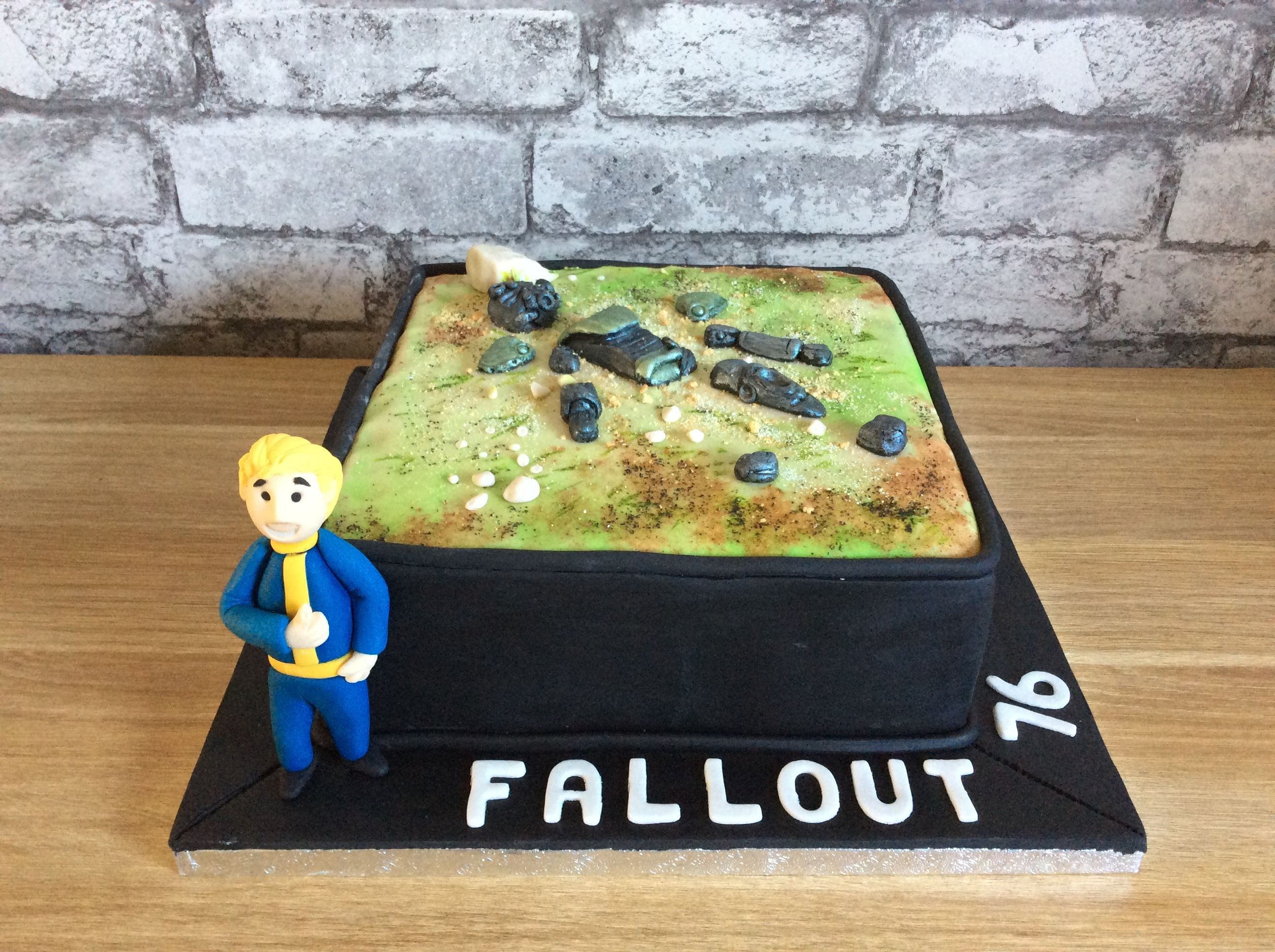 Fallout Birthday Cake  Fallout 76 themed birthday cake x Quick Saves