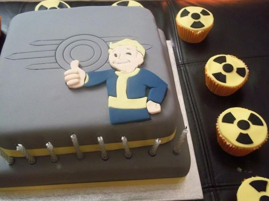 Fallout Birthday Cake  Fallout Cake cake by Laura Galloway CakesDecor