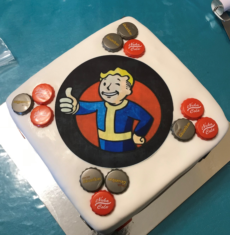 Fallout Birthday Cake  PageCake Story Kay Cake Designs