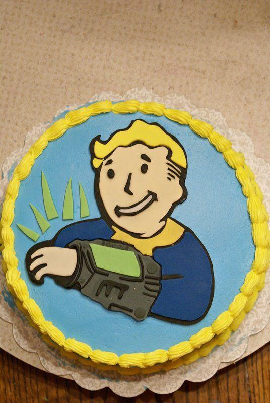 Fallout Birthday Cake  Fallout cake Cakes Pinterest