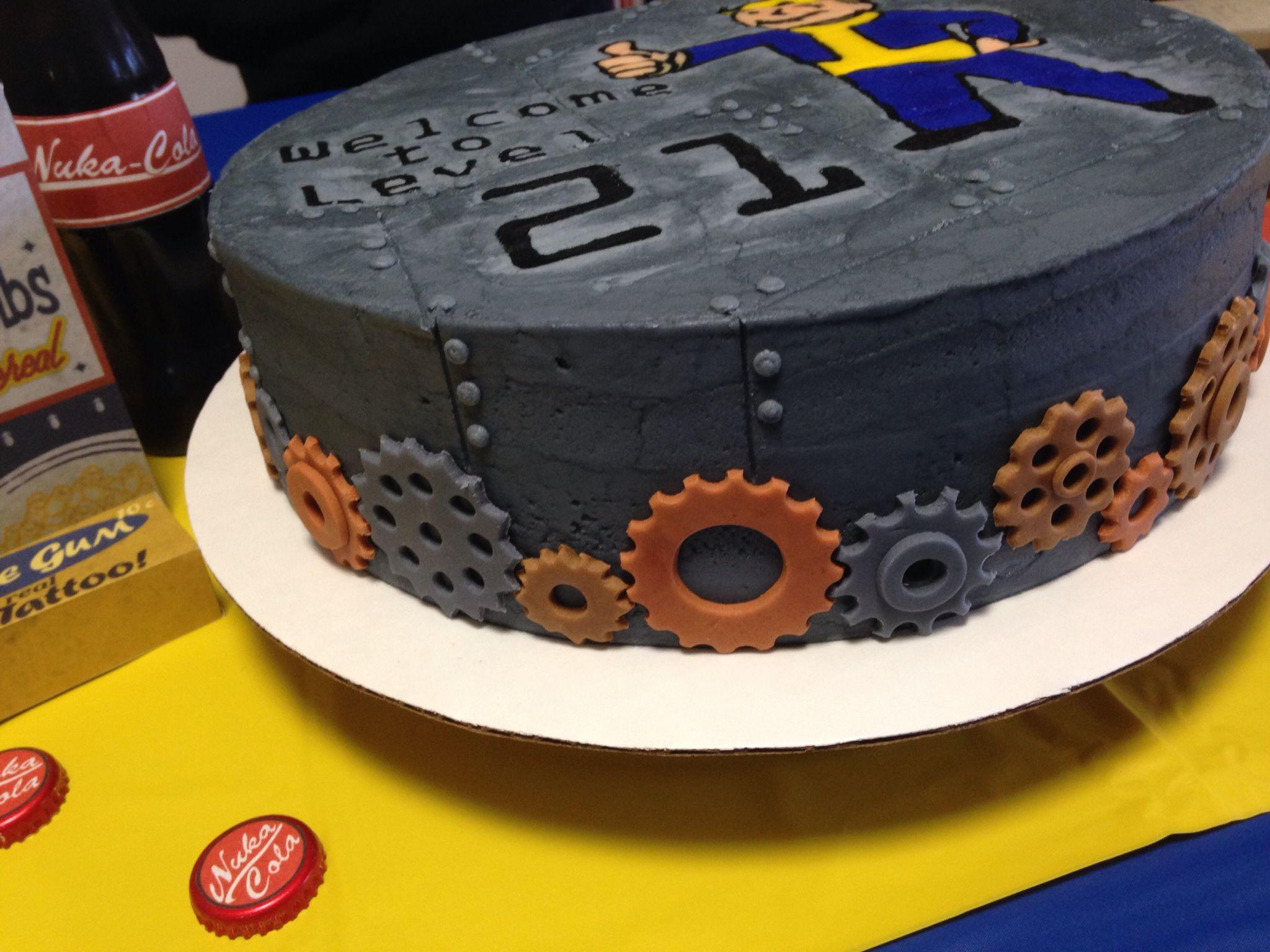 Fallout Birthday Cake  Fallout birthday cake Buttercream & fondant