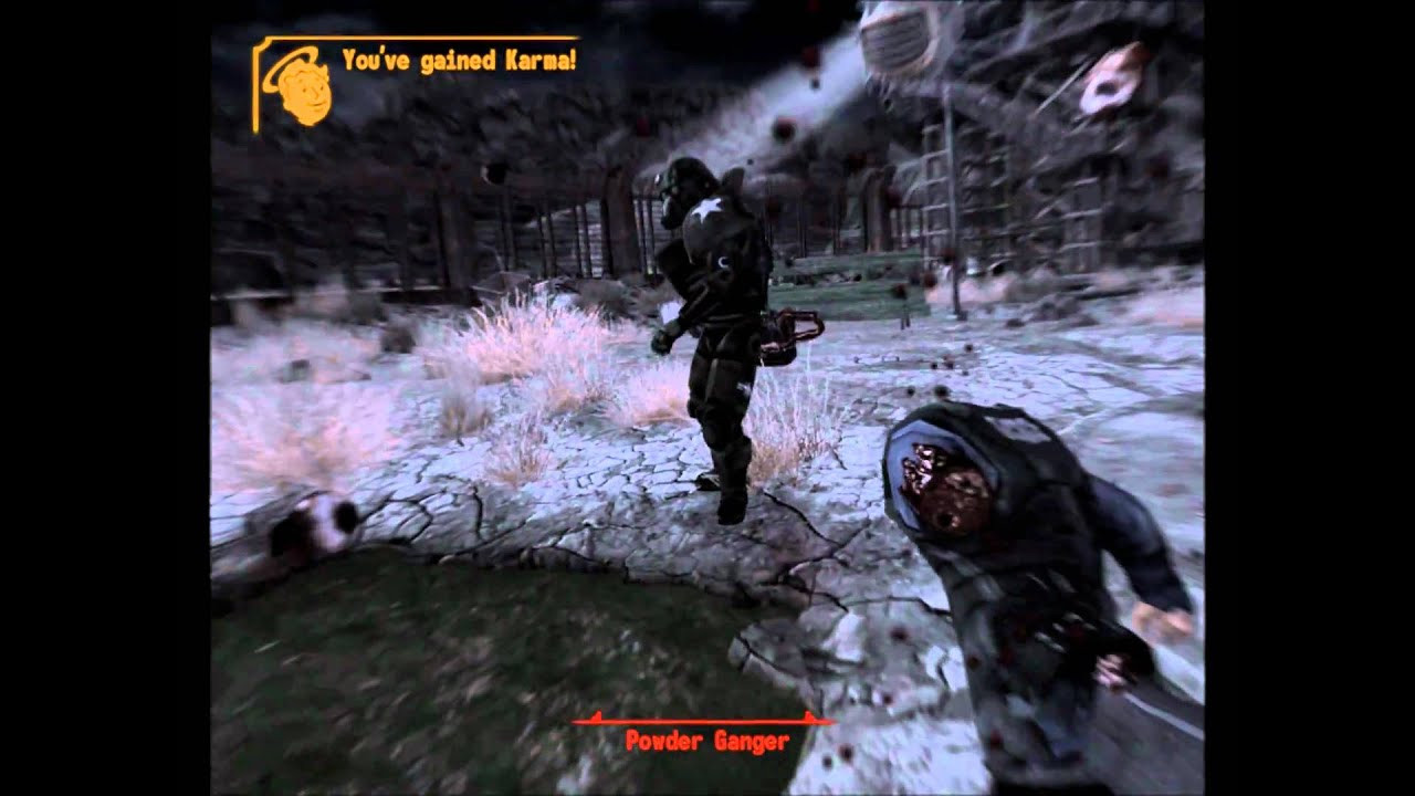 Fallout New Vegas Dinner Bell  Fallout New Vegas Powder Ganger Massacre Dinner Bell