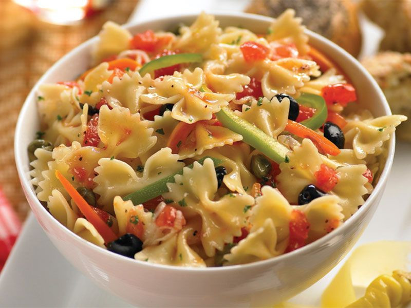 Farfalle Pasta Recipes Vegetarian  BARILLA Farfalle with Multicolored Peppers