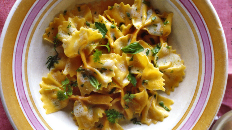 Farfalle Pasta Recipes Vegetarian  Carrot Farfalle with Lemon and Herbs