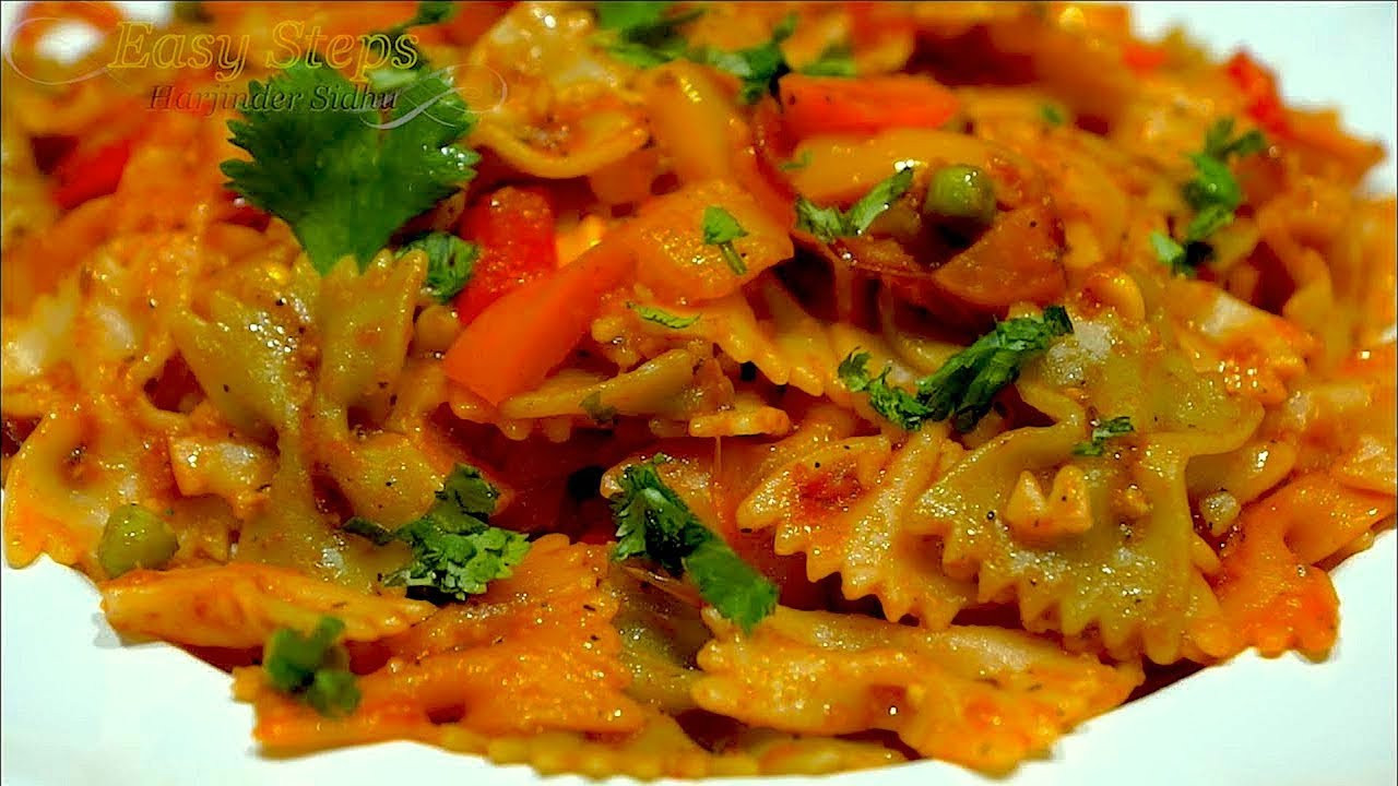 Farfalle Pasta Recipes Vegetarian  Hot & Spicy Ve arian Macaroni Pasta Recipe