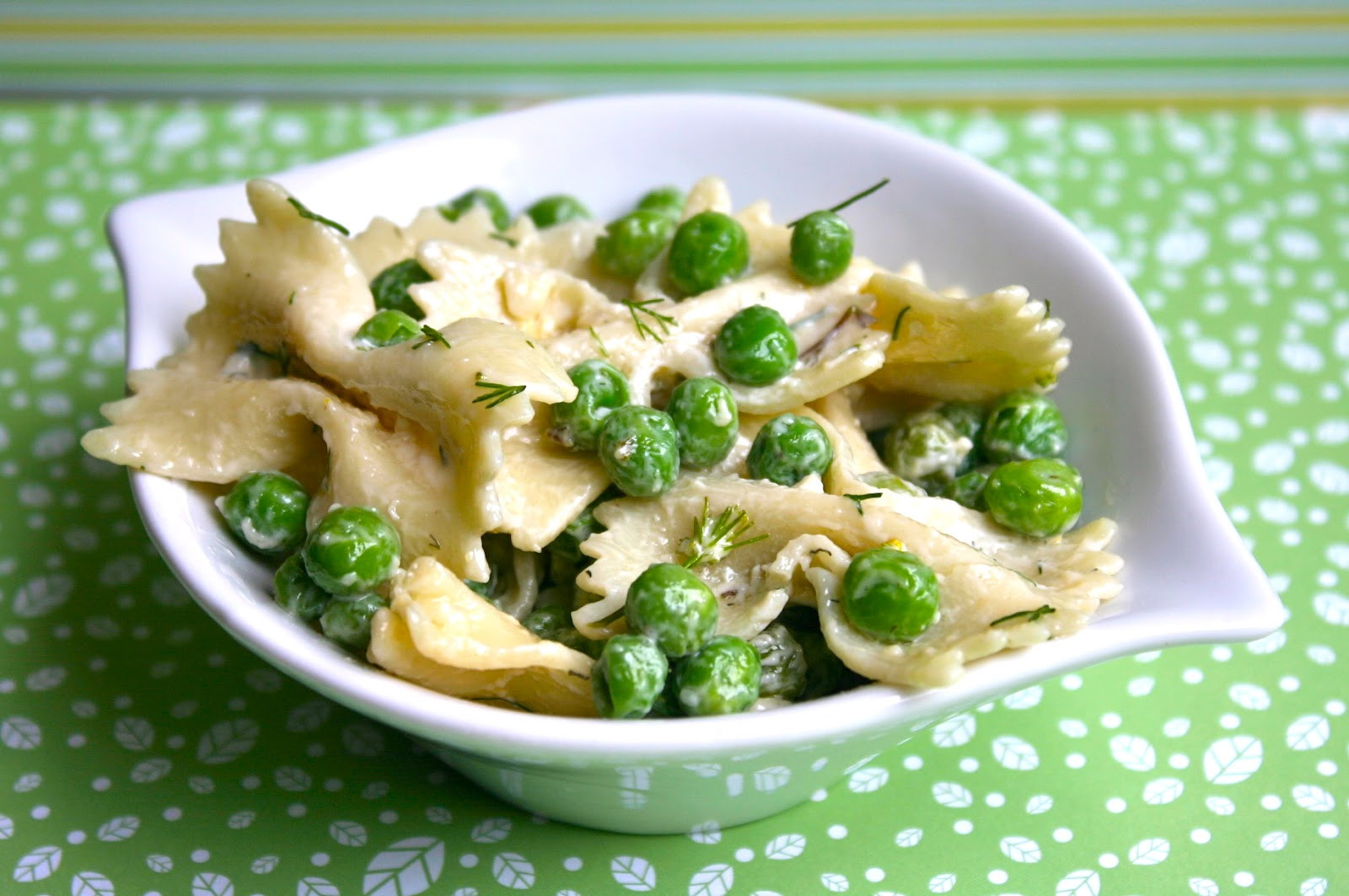 Farfalle Pasta Salad  My Retro Kitchen Farfalle Pasta Salad with Sweet Peas and