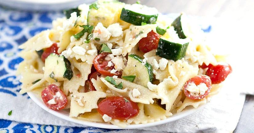 Farfalle Pasta Salad  Fresh Zucchini Farfalle Pasta Salad