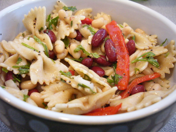 Farfalle Pasta Salad Recipe  Mediterranean Farfalle Bow Tie Pasta Salad Recipe Food